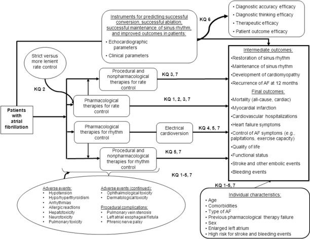 Atrial Fibrillation Concept Map.Treatment Of Atrial Fibrillation Effective Health Care Program